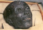 الشكل الذي رسمته الأشعة المقطعية لوجه الفرعون المصري توت عنخ آمون